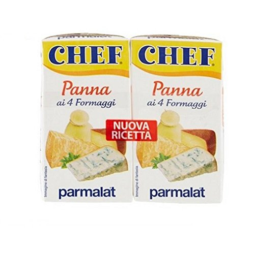 Parmalat Chef Italian Cooking Cream & 4 Cheeses (2x125g) Perfect for Pasta!