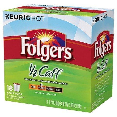 Folgers Half Caff kcup 18ct TRG