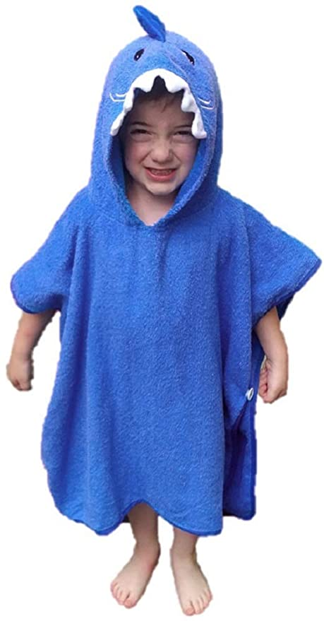 Amazoncom Softest Quick Dry Hooded Kids Shark Towel For Toddler