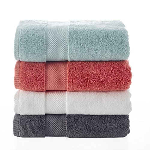 Bagno Milano Luxury Hotel & Spa Collection Turkish Cotton Large Hand Towel Set of 4, (Green) Super Soft and Ultra Absorbent Turkish Towel by Bagno Milano (Image #4)