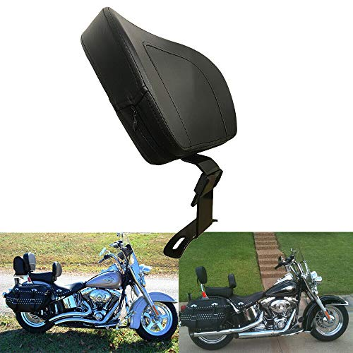 BBUT Plug In Front Driver Rider Backrest Back Rest For Harley 2018-2019 Harley Heritage Softail Deluxe Fatboy Classic FLHC FLHCS (Softail Harley Deluxe)