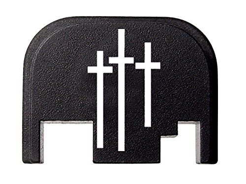 FIXXXER Rear Cover Plate for Glock (Trinity Design) Fits Most Models (Not G42, G43) and Generations (Not Gen 5) - Trinity Design