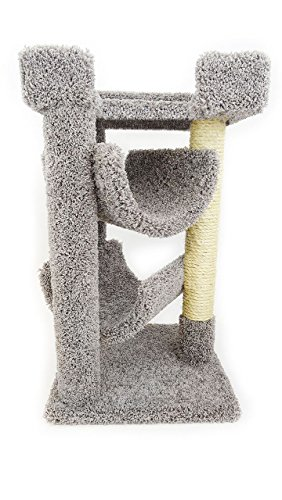 Cat Tree Mini 33 inch Cat Furniture Wood for Large Cats, Gray Carpet For Sale