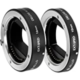 Vello EXT-SFED Deluxe Auto Focus Extension Tube Set for Sony E-Mount Lenses(2 Pack)