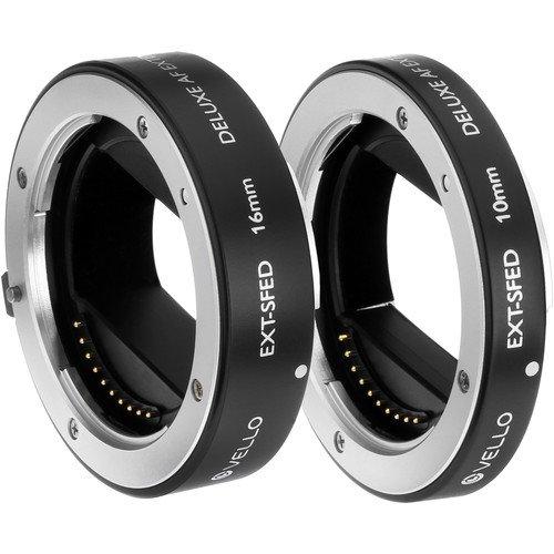 Vello EXT-SFED Deluxe Auto Focus Extension Tube Set for Sony E-Mount Lenses by VELLO
