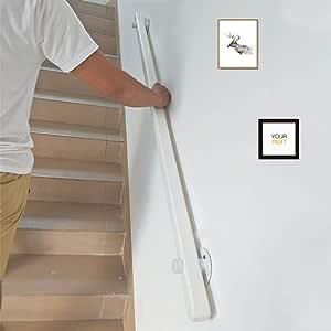 Barandilla De Madera,barandas De Escaleras Modernos Antideslizantes, pasamanos Barandilla para Corredores De Edad Avanzada En Lofts Interiores contra Las Paredes(tamaño: 30-600cm): Amazon.es: Hogar