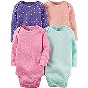 Carter's Baby Girls' Multi-Pk Bodysuits 126g336, Multi Dot, 6 Months