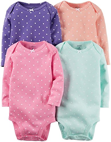 Carter's Baby Girls' Multi-PK Bodysuits 126g336, Multi Dot, New - New Girl Michelle