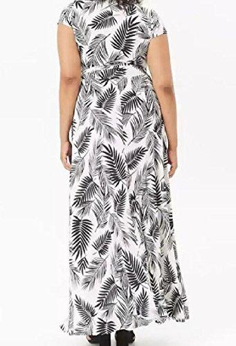 Coolred-femmes, Plus La Taille D'impression Longue Robe De Vêtements De Plage Classique De La Mode Noir
