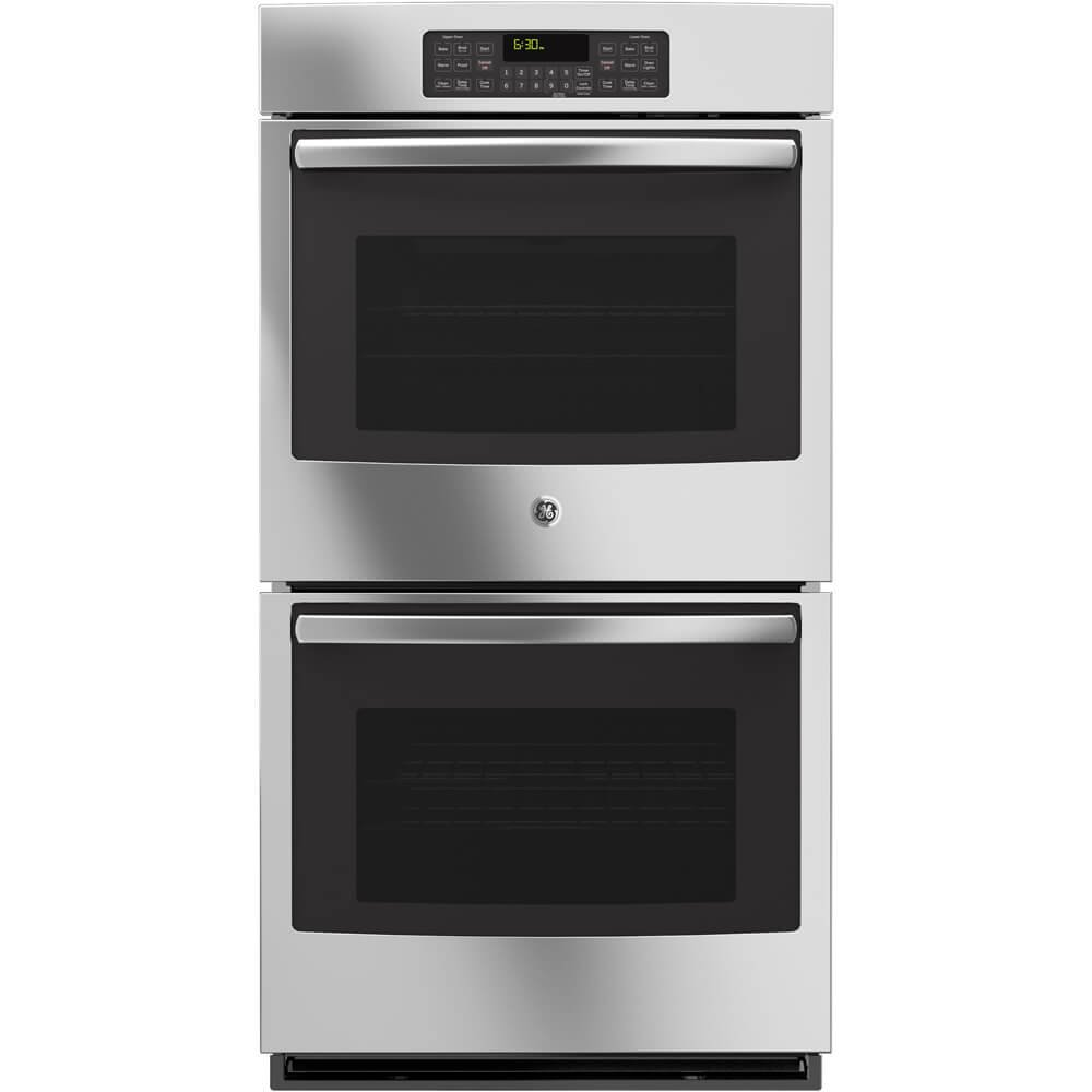 ge jk3500sfss 27 built-in double wall oven with 8 6 cu  ft  total