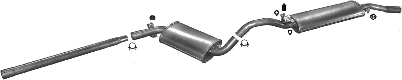 Ets Exhaust 5123 Auspuff Auspuffanlage Für Golf Ii 1 6 Fließheck 70 72hp 1986 1991 Auto