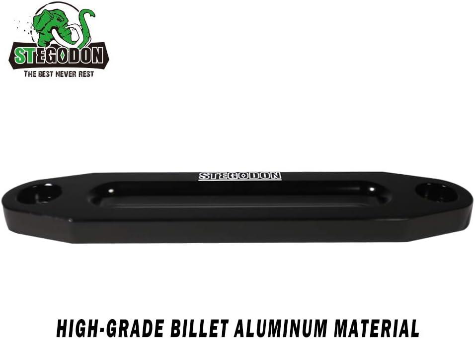All Black STEGODON Universal 10 Aluminium Winch Hawse Fairlead Black Finish Cast Iron for Synthetic Rope Winch 8000-13000LBS Winch
