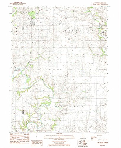 YellowMaps La Fayette IL topo map, 1:24000 scale, 7.5 X 7.5 Minute, Historical, 1983, updated 1984, 26.8 x 21.9 IN - (1983 Road Jersey)