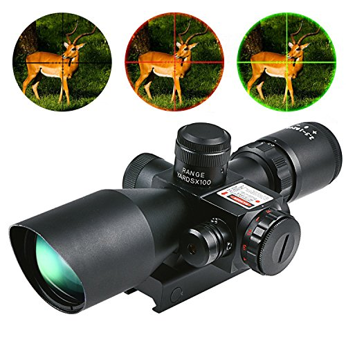 Review CVLIFE Hunting Rifle Scope 2.5-10x40e Red & Green Illuminated Gun Scopes with 20mm & 11mm Mount