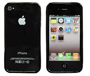 Nueva carcasa en silicona para Apple iPhone 4 / 4S /4G con efecto Marco - Negro