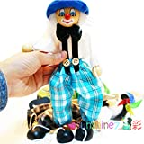 Children's manual Educational Toys Cute Clown Puppet Doll Toy(blue)