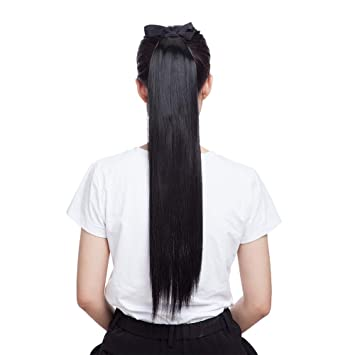 amazon com drawstring ponytail extensions tie up ponytail clip in