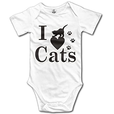 I Love Cats Baby Jumpsuit Nation Newborn Infant Boy Girl Cotton Romper Bodysuit Clothes