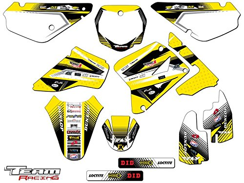Suzuki Team Decals - Team Racing Graphics kit compatible with Suzuki 2001-2004 RM 85, ANALOG Complete Kit