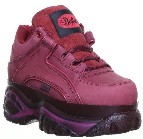 Buffalo - Zapatillas de cuero para mujer, color rojo, talla 39.5: Amazon.es: Zapatos y complementos