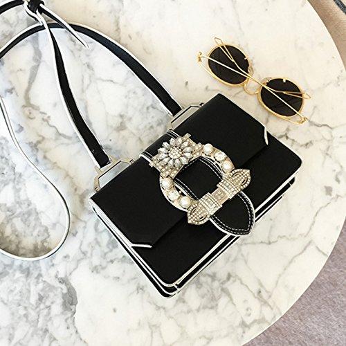 Black Leather PU Lady Shoulder Bag Cute Handbag AiSi Women Satchels OTwqZzZ