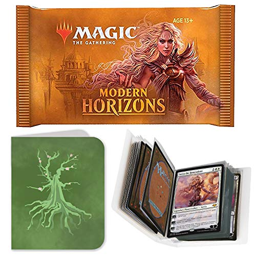 Totem World 1 Booster Pack of Magic The Gathering Modern Horizons with a Totem Forest Mana Symbol Mini Binder Collectors Album - One MTG Pack for MH1 Booster Draft Lot