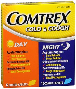 Coated Caplets Day/Night - 24 ct, Pack of 6 (Comtrex Cold And Cough)