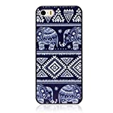 XILALU Fashion Blue Elephant Pattern Hard Skin Case Cover for iPhone 5 5G 5S