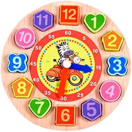 Egosy Digitale Klok Speelgoed 1 Set Klok Speelgoed 4 Modellen Kids Diy Diy Dieren Houten 3D Puzzels Cartoon Educatief Speelgoed Voor Kids Kralen