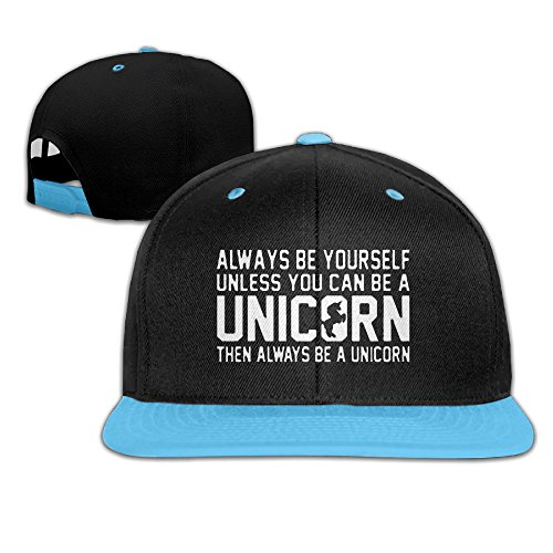 Hip Pop Be Yourself Unless You Can Be A Unicorn Kid Snapback Child Hats
