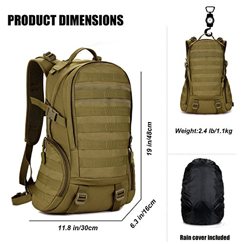 Hiking Rucksack System Brown 25L Backpack DCCN Tactical Molle Military HxYzAnP7
