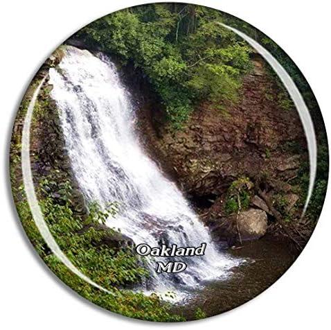 オークランドスワローフォールズ州立公園メリーランド州米国冷蔵庫マグネット3Dクリスタルガラス観光都市旅行お土産コレクションギフト強い冷蔵庫ステッカー