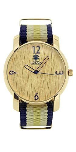Relojes Calgary Wild wood colección Peace & Love. Reloj vintage para mujer, correa de