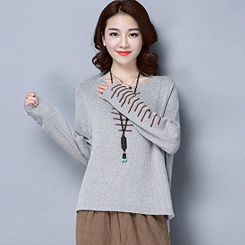 Xuanku Kit Femme Knitwear Van Culturel des Femmes Tête De Talon Avant LÂchexl,Navy