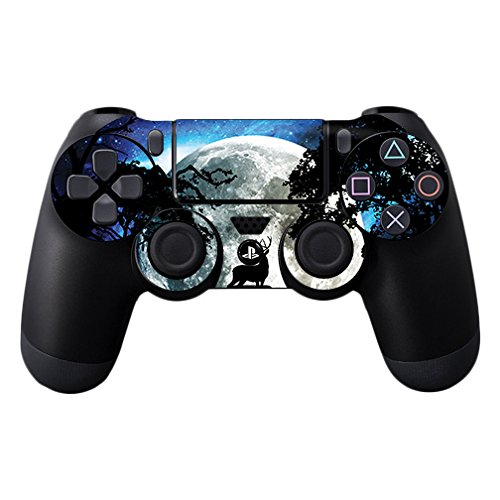 MightySkins Skin Compatible with Sony PS4 Controller - Moonlight Deer | Protective, Durable, and Unique Vinyl Decal wrap Cover | Easy to Apply, Remove, and Change Styles | Made in The USA
