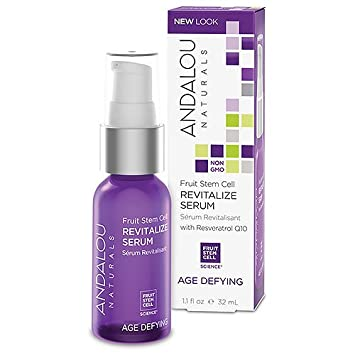 Andalou Naturals, Revitalize Serum with Resveratrol Q10, Age Defying, 1.1 fl oz (pack of 1) bioelements lightplex clinical skin brightener, 1.5-ounce