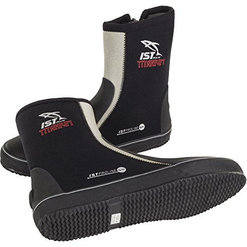 IST 5mm Titanium Vulcanized Sole Boot with Toe & Heel Caps (Mens 9 / Womens (Ultra 5mm Dive Boot)