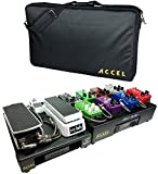 Tiered Pedal Board for Guitar Effects , Accel XTA-10 and XTA-15 combined Guitar Effects Pedal Boards with Tote