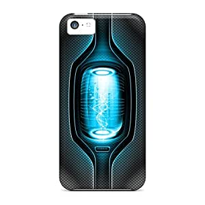 Rugged Skin Case Cover For Iphone 5c- Eco-friendly Packaging(beam)