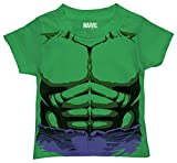 Marvel Toddler Boys' Hulk T-Shirt, Purple Shorts Kelly Green, 4T