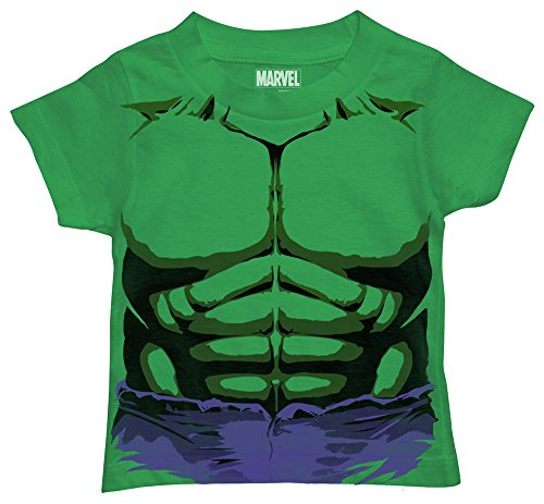 Marvel Toddler Boys' Hulk T-Shirt, Purple Shorts Kelly Green, 3T -