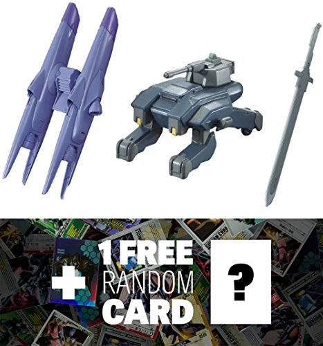 Gundam Option Set 4 & UW-33 Union Mobile Worker Iron-Blooded Arms High Grade 1/144 Add-On Set + 1 FREE Official Japanese Trading Card Bundle (HGIBA #004)