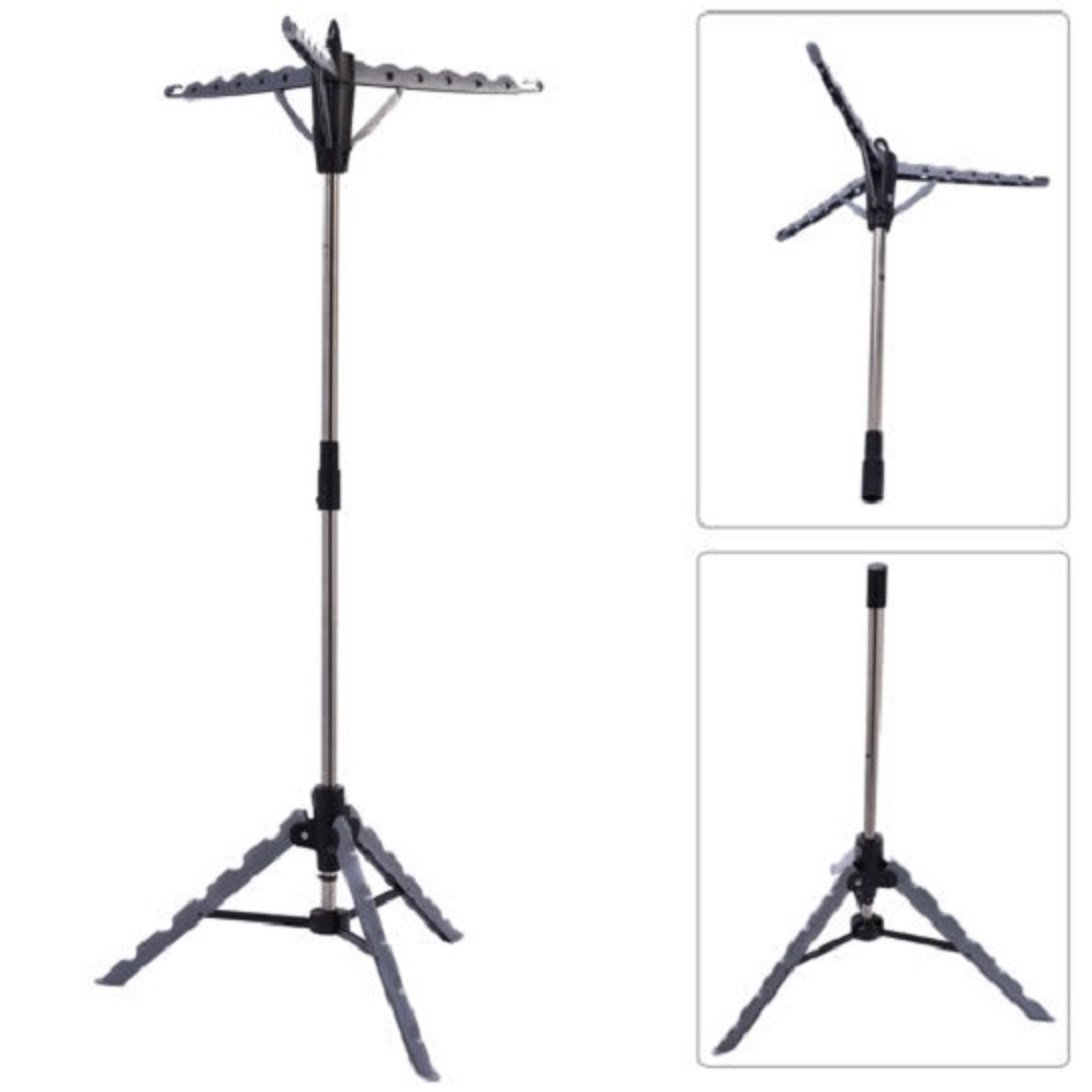 BEST Clothes Hanger Drying Portable Multifunctional Retractable Laundry Racks Tripod NEW