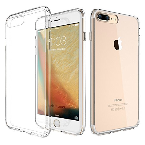 ATGOIN Flexible TPU Hybrid Shock Absorbing Back Panel Bumper Case for iPhone 7 Plus (5.5-Inch) - Crystal Clear