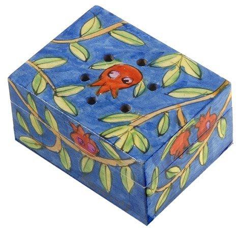 (Pomegranate Design Spice Box with Cloves)
