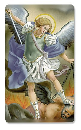Valencia 3-D Spiritual Patron Saint St Michael Armor Christian Catholic Holy Prayer Card