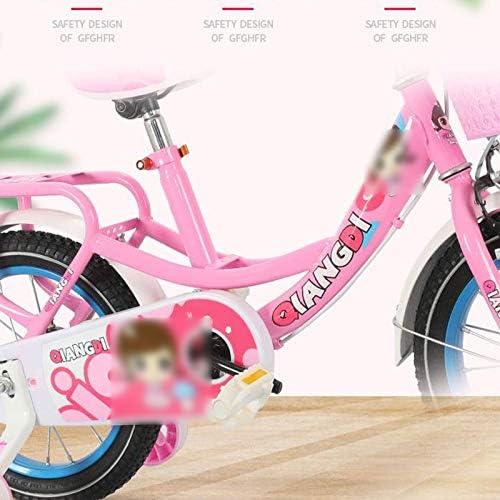 GTD-RISE Kinderen Kinderen Fiets, Kinderen Pedaal Fiets Meisjes Jongens Peuter Training Bike Voor 2-12 Jaar Oud In 12/14/16 Inch (Kleur: Blauw, Maat: 30,5 cm)