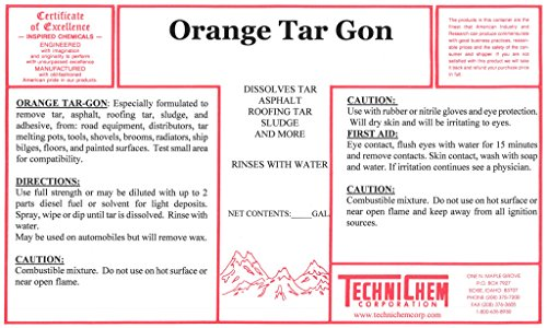 Technichem Corporation ORANGE TAR GON Citrus Tar Remover ...