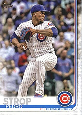 new products d47b9 fb249 Amazon.com: 2019 Topps Baseball #142 Pedro Strop Chicago ...