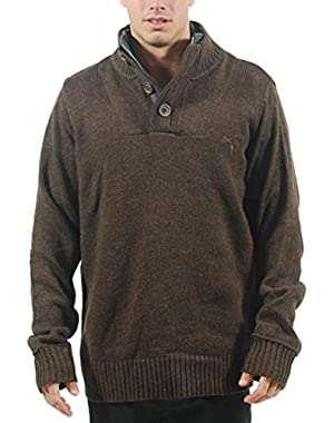 MEN'S KNITTED SWEATER COFFEE BEAN HEATHER 558720 03